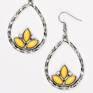 Lotus Laguna - Yellow Earrings
